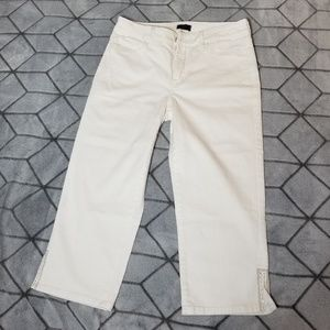 B31 NOT YOUR DAUGHTERS JEANS White Capris Size 6